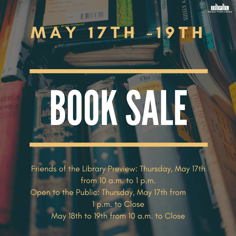 Book Sale May 17th19th